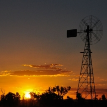 Windmill Sunset, QLD_preview